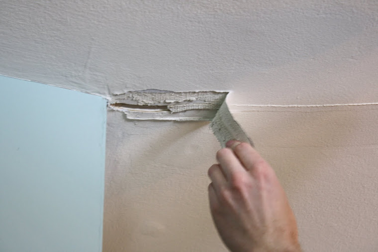 Tape and spackling