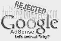 Penyebab Pendaftaran Akun Google Adsense Ditolak