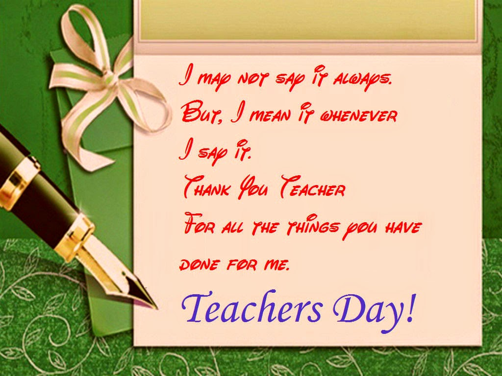 Good Wishes Messages Cards for Teacher's Day | Festival Chaska