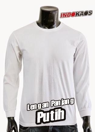 Kaos Polos Lengan Panjang Putih