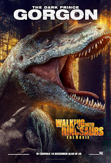gorgon in Walking with Dinosaurs official character movie poster malaysia release