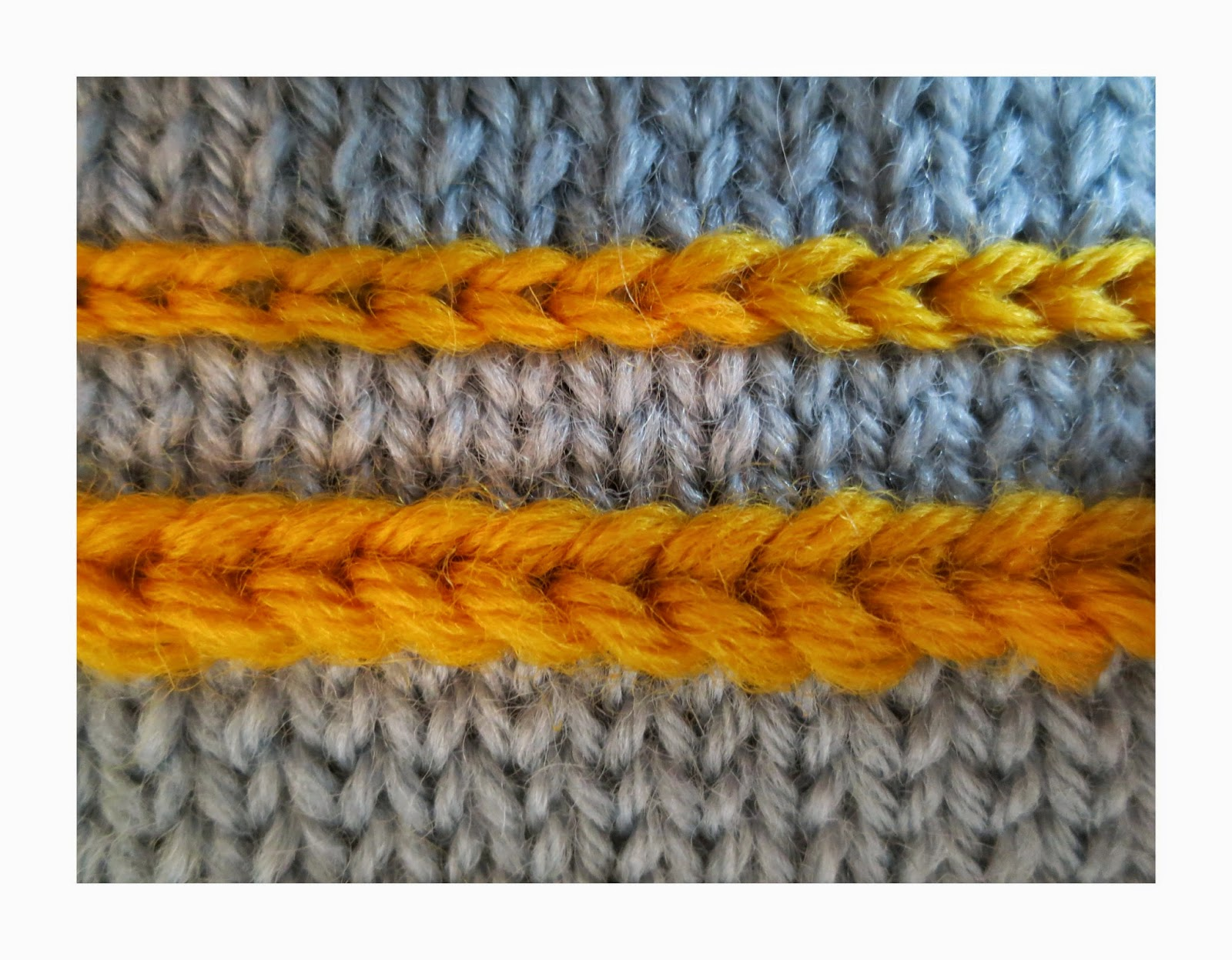 How to knit braids 36