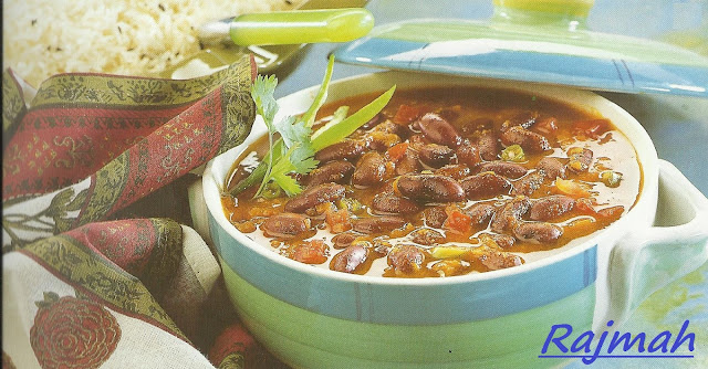 Microwaved Rajmah Chawal / Kidney Beans Rice