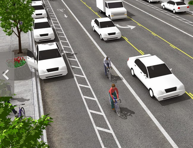 1st state bikes bike lanes and sharrows require