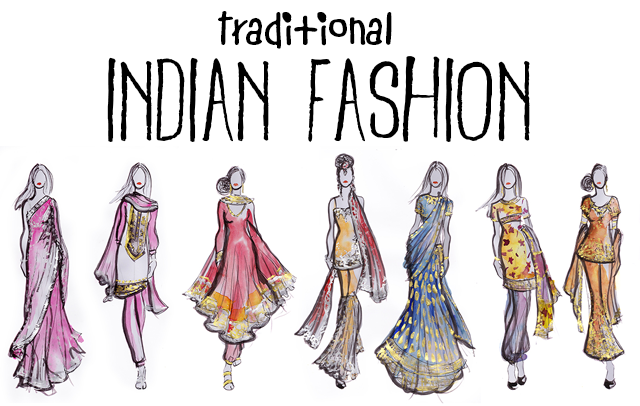 Indian fashion dresses sketches