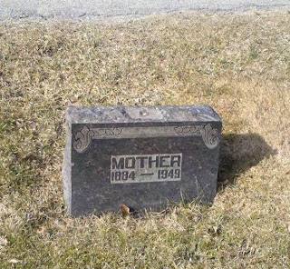 Tombstone inscribed simply 'Mother'
