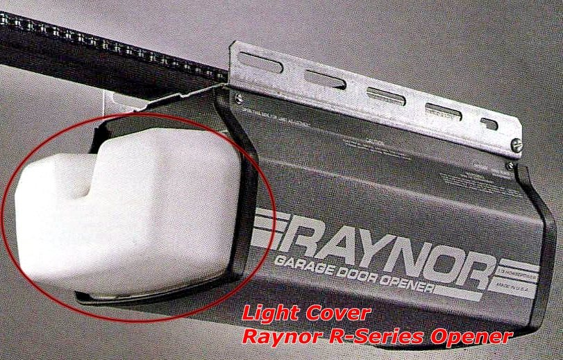 Garage door zone raynor r series opener light cover