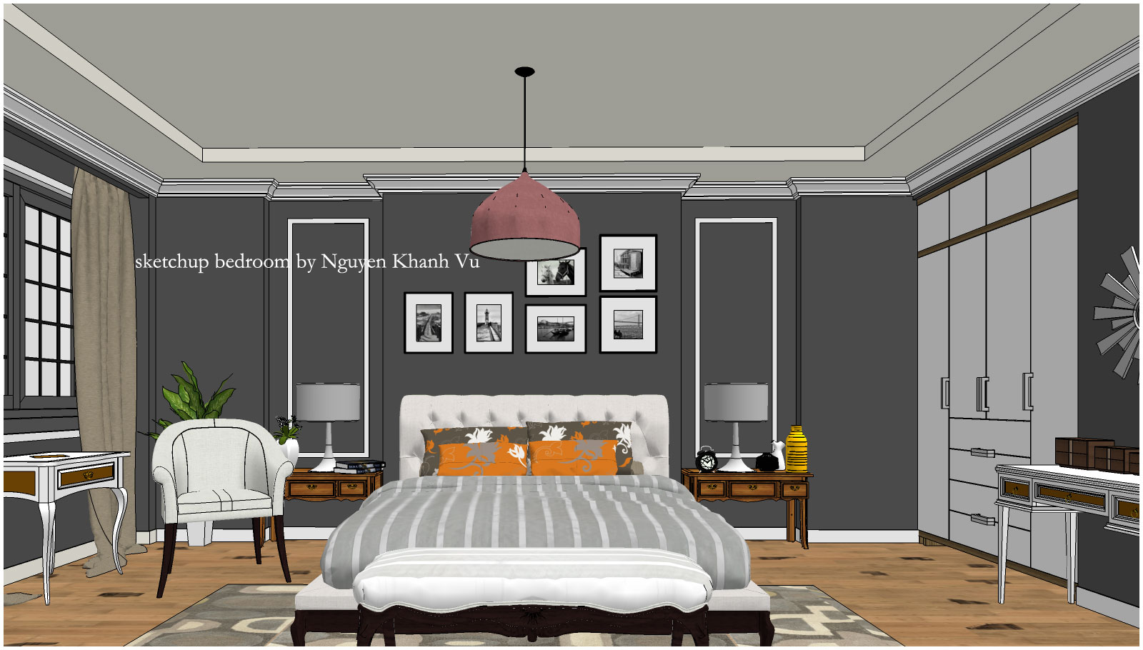 Model Bedroom sketchup texture: free 3d model bedroom #5 vray 1.6 setting