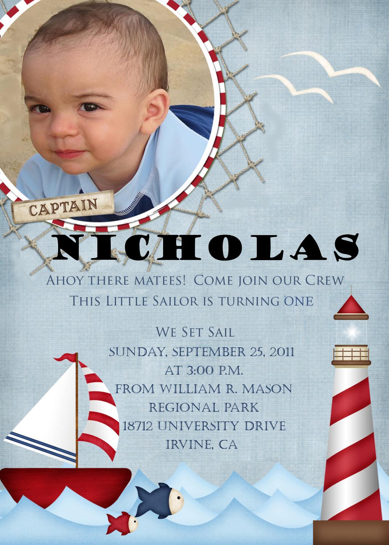 Ooh-La-La So Chic!: A Nautical Theme First Birthday