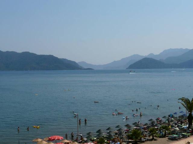 Marmaris - widok z hotelu na morze