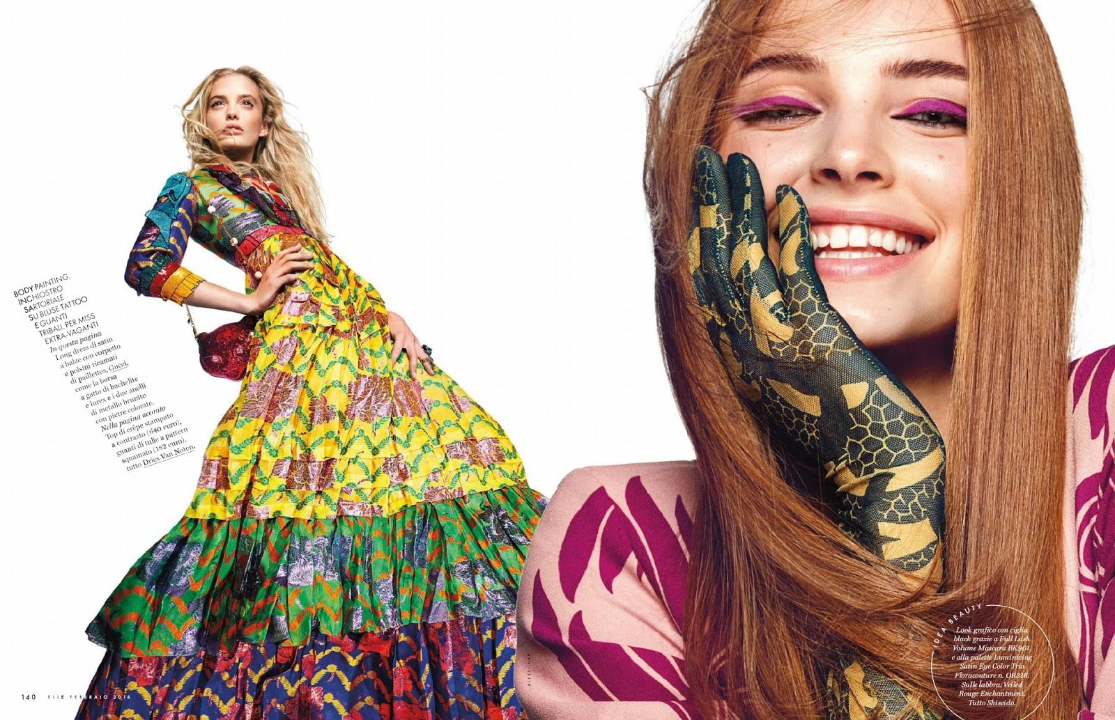 Arts cross stitch fashion model ella wennstr m by for Elle italia
