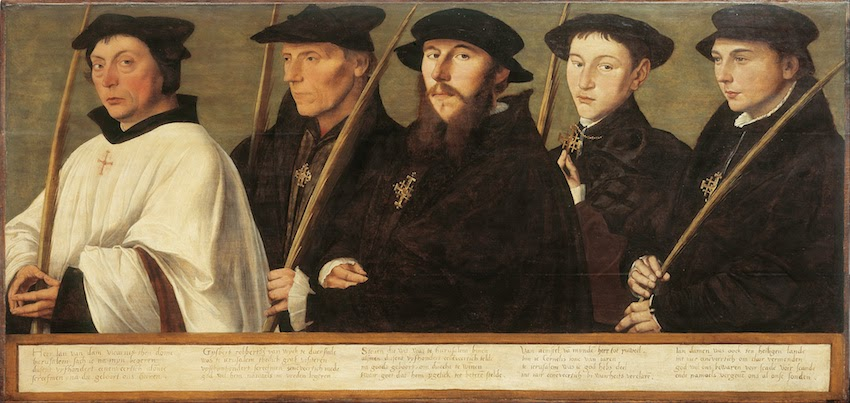 Five Members of the Utrecht Brotherhood of Jerusalem Pilgrims by Jan van Scorel ca 1541