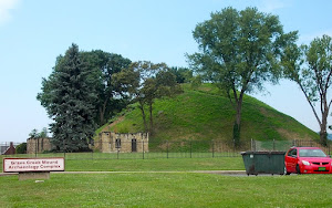 The Grave Creek Mound at Moundsville.  It was saved from destruction by local activists.