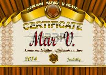 Certificado de Palabra, Pincel y Canto