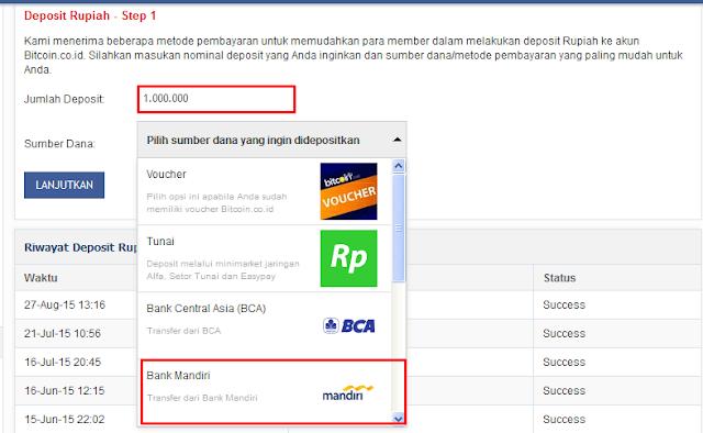 deposit bitcoin rupiah