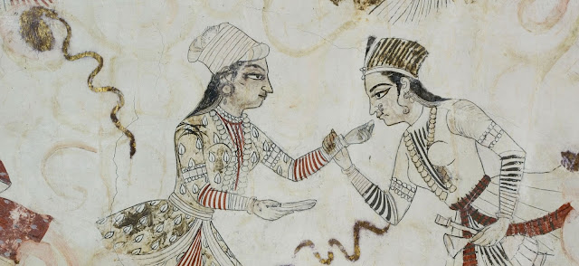 fresco painting in nagaur fort rajasthan