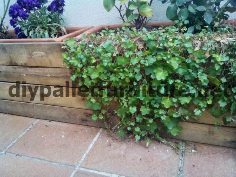 Como hacer una pantalla con palets para tapar unas jardineras - Como hacer jardineras con palets ...