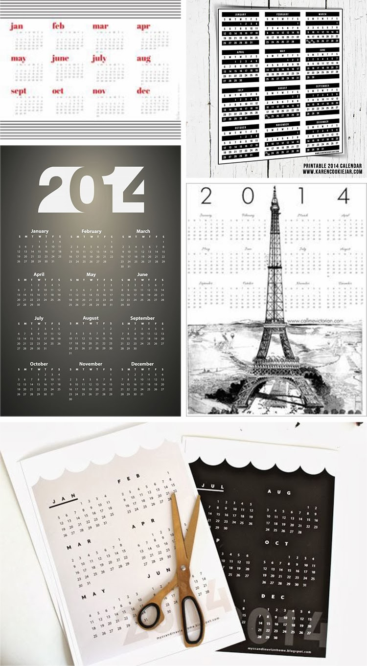 DIY Monday # 90+ free printable calendars