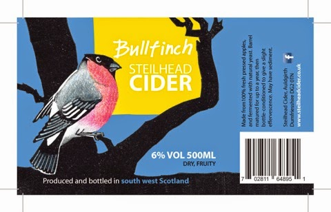 A picture of a cider label created by Clare Melinsky