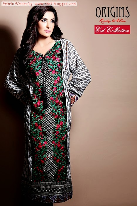 Origins Eid Dresses with Model Mehwish Hayat
