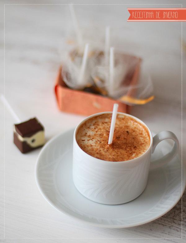 chocolate quente no palito receita