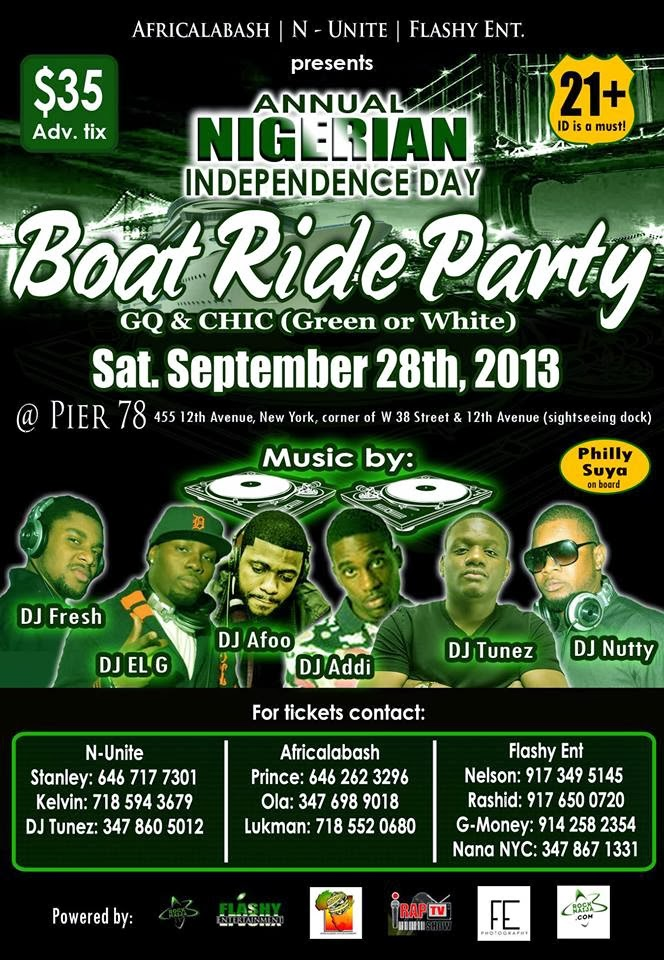 Weekend events for Nigeria Independence Day 2013