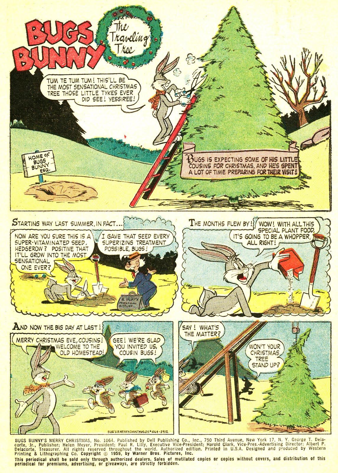 Chris Sobieniak\'s Comics & Stories: Four Color: Bugs Bunny\'s Merry ...