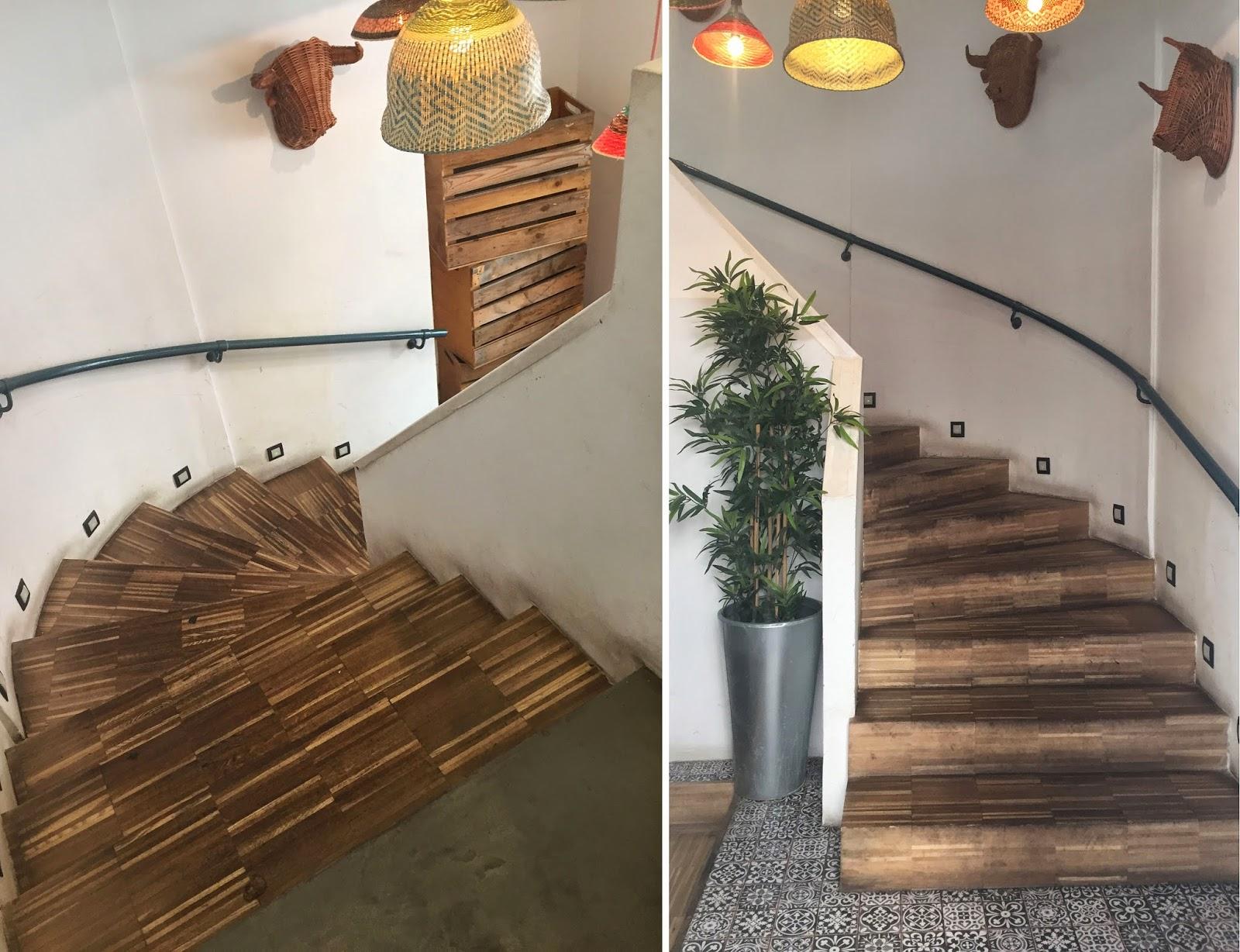 Gastronomia y madera unidas en una experiencia espacios en for Escaleras de parquet