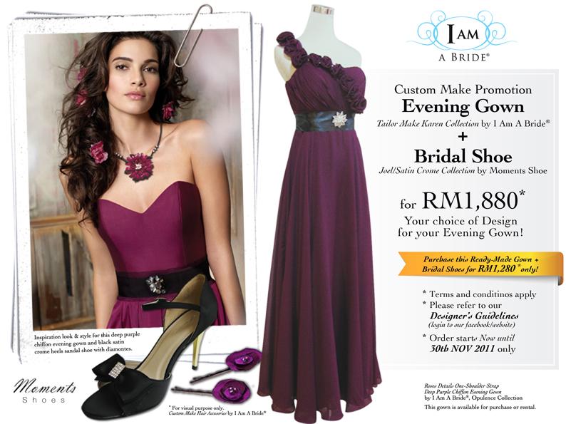 HOT Promotion Custom Make Evening Gown + Bridal Shoe Nov 2011 | Yo ...