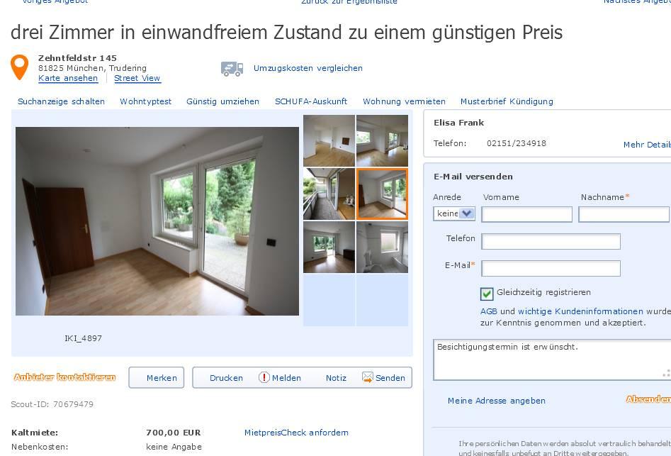 Wohnung Interesse Bekunden