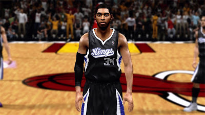 NBA 2K13 Jason Thompson Cyberface Patches