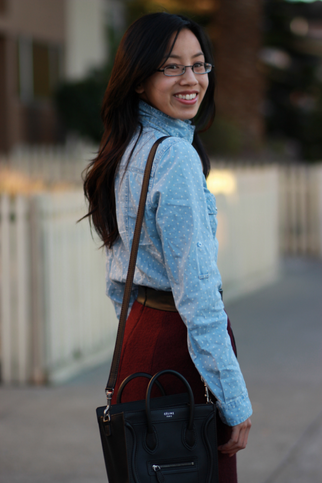 styling chambray for winter wear
