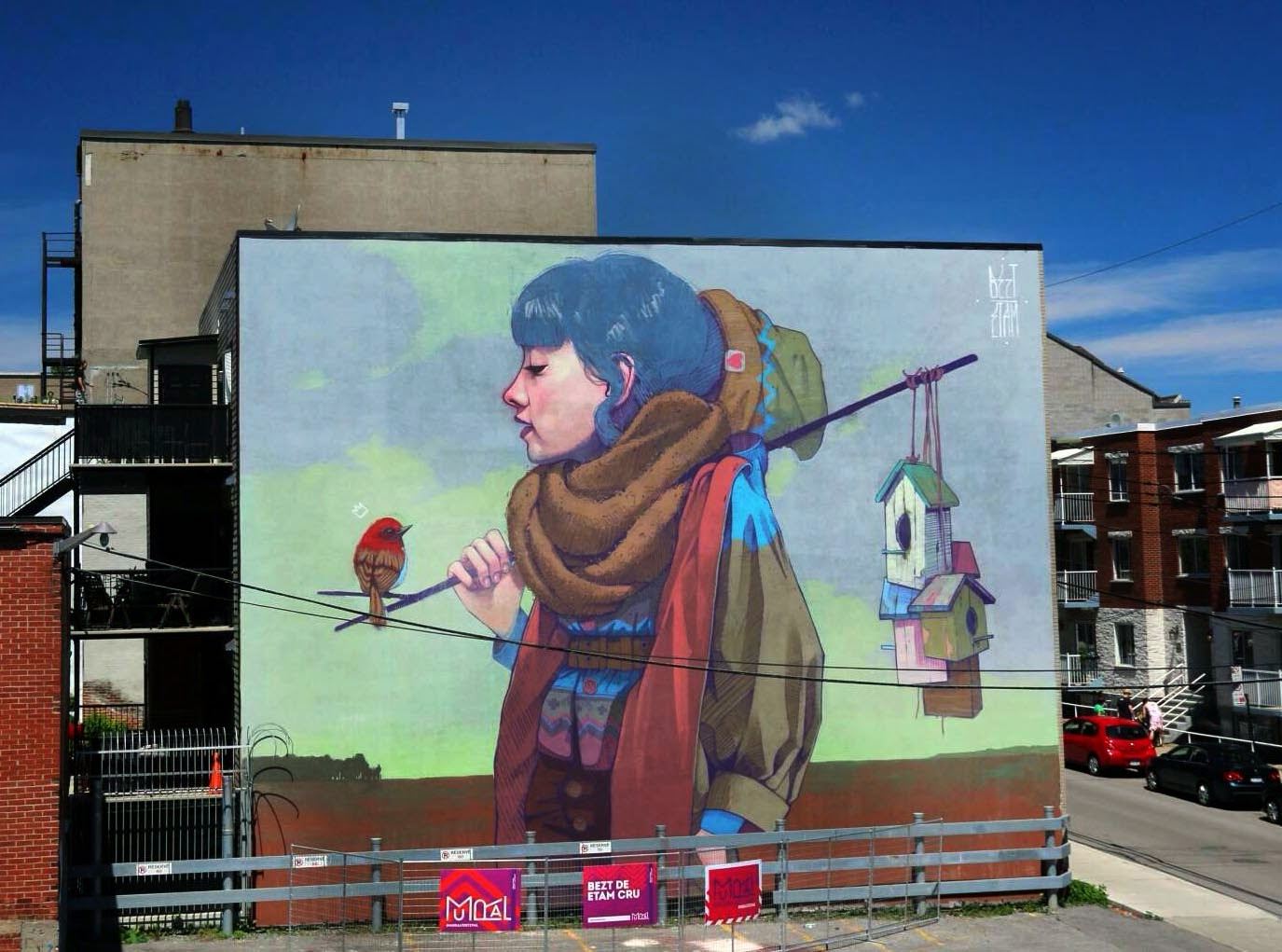 Bezt new mural montreal canada streetartnews for Art mural montreal