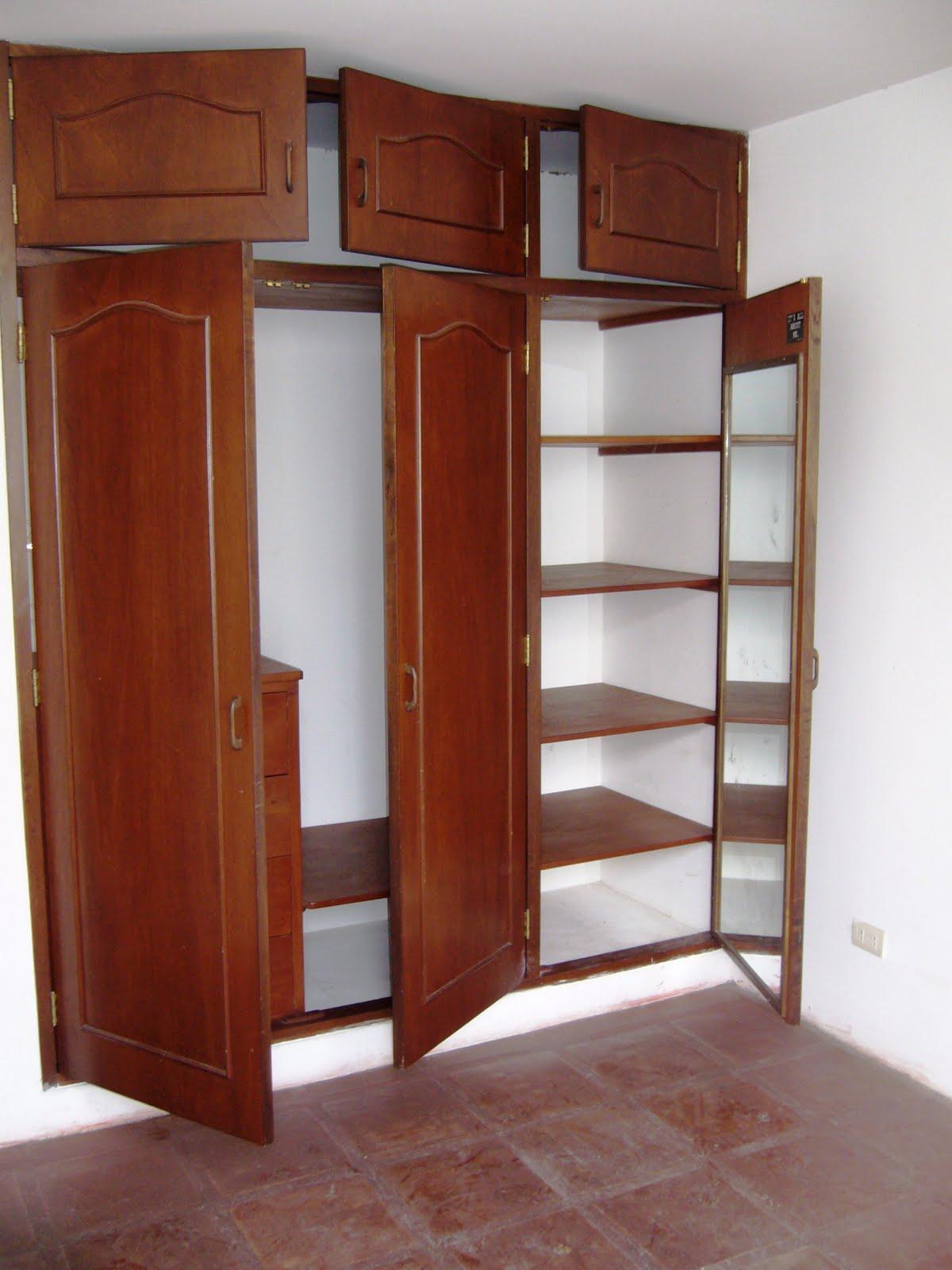 Closet de madera imagui for Closet de madera modernos pequenos