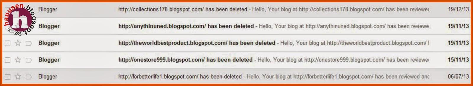 Blog dihapus sepihak oleh Blogger,Antisipasi blog di hapus oleh blogger.com