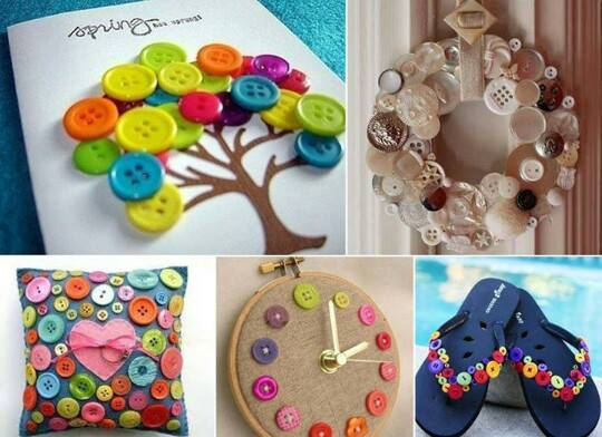6 idee per riciclare i bottoni | 6 DIY buttons recycled ideas