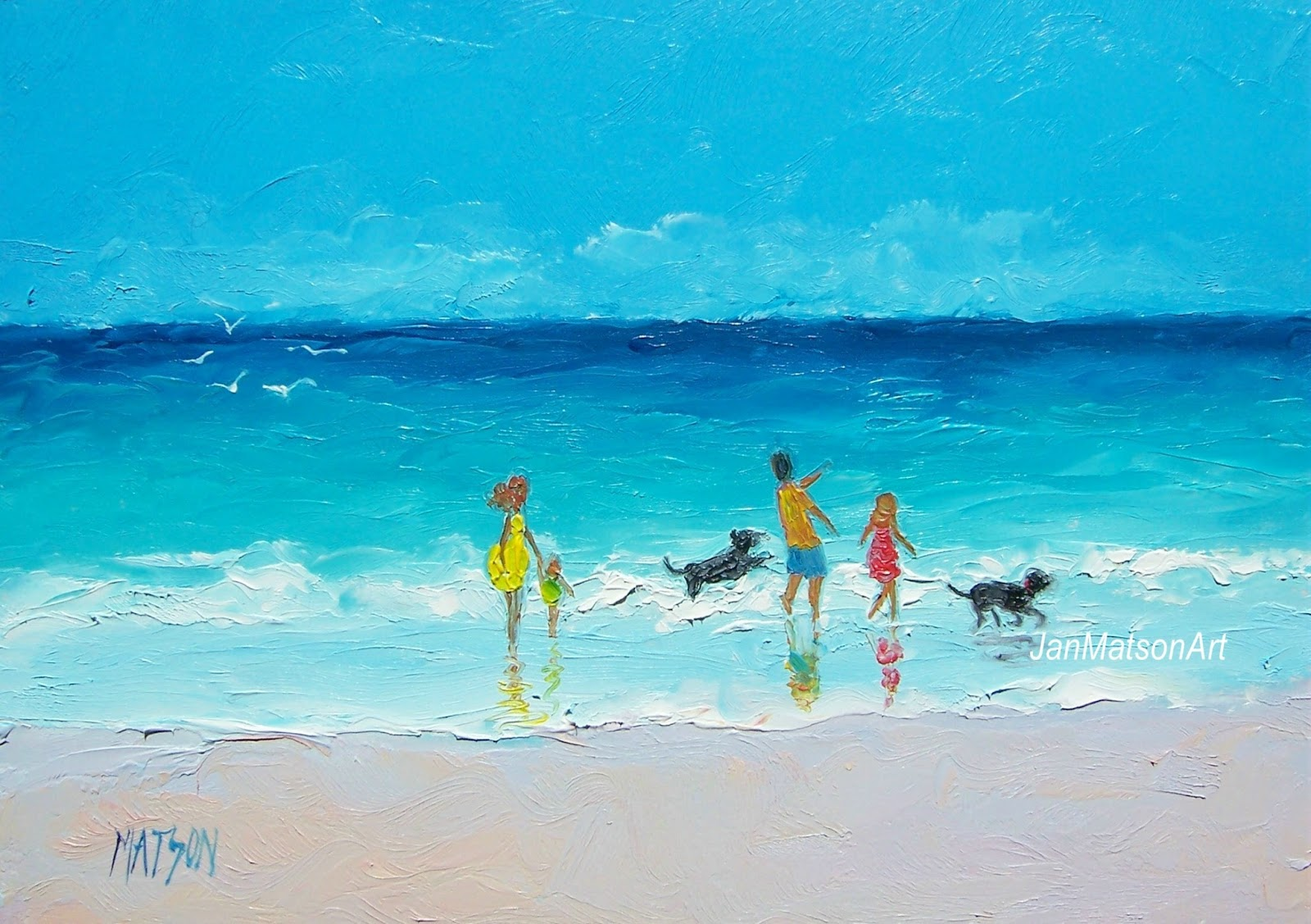 jan matson etsy art: etsy art, beach scenes 'sea breeze'