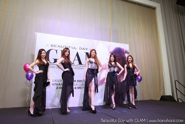 Barisan model dlm A Beautiful Day with GLAM and comapany Hai-O Marketing