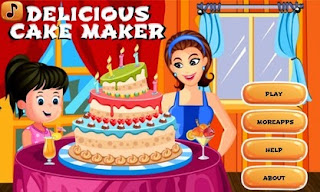 Screenshots of the Delicious Cake Maker for Android tablet, phone.