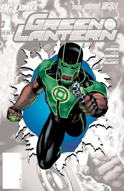Lanterna Verde portando uma pistola