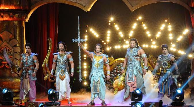 Foto Pemain Mahabarata Joget Bareng 4 Penyanyi Dangdut