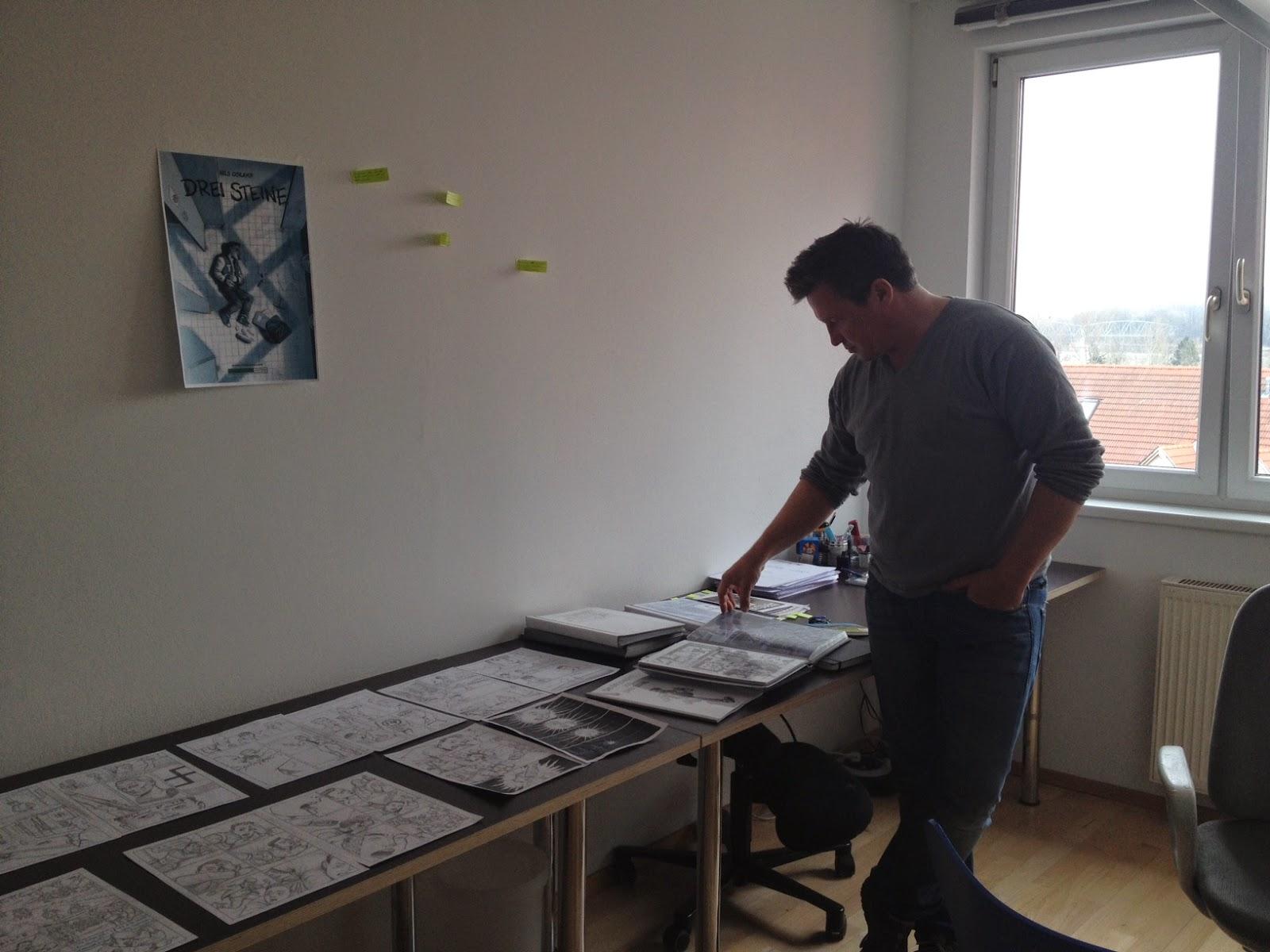Nils Oskamp in seinem Atelier direkt an der Kunstmeile Krems © diekremserin