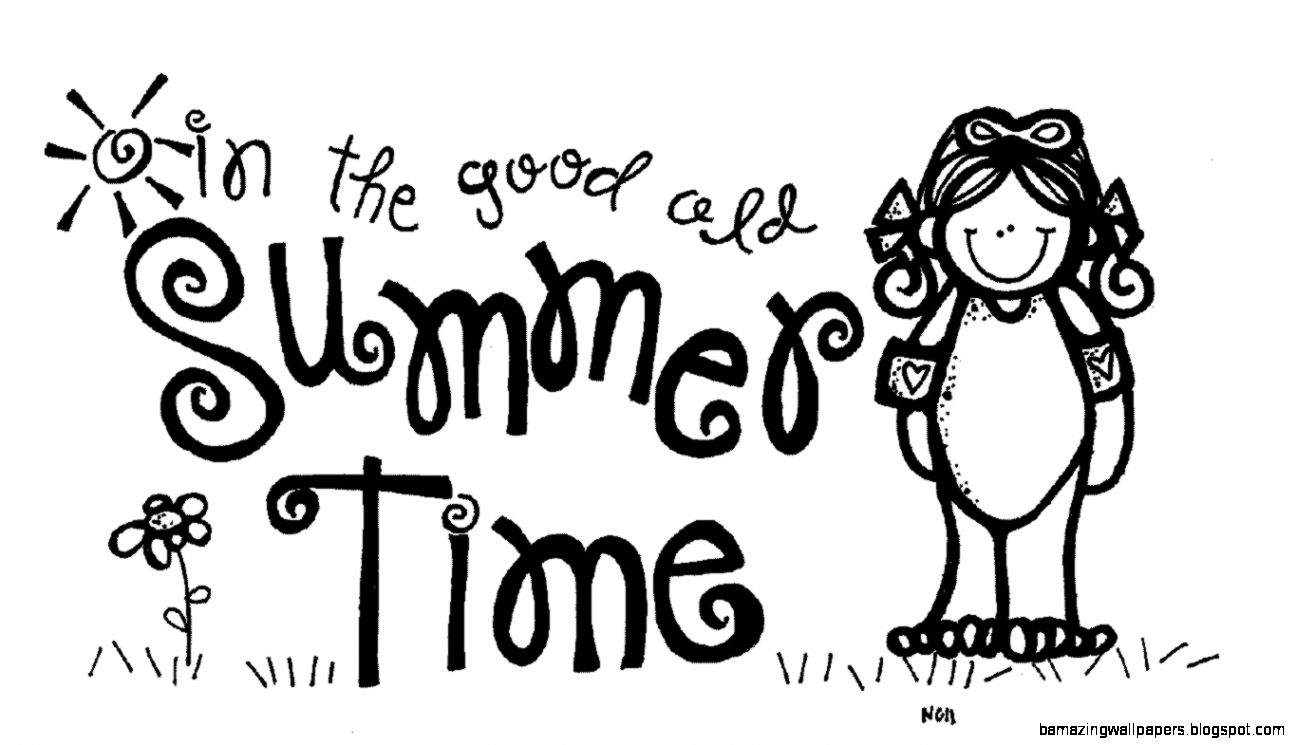 Summer Clip Art Black And White