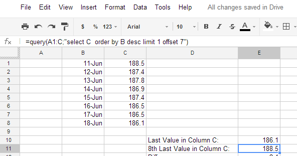how to calculate average change over time