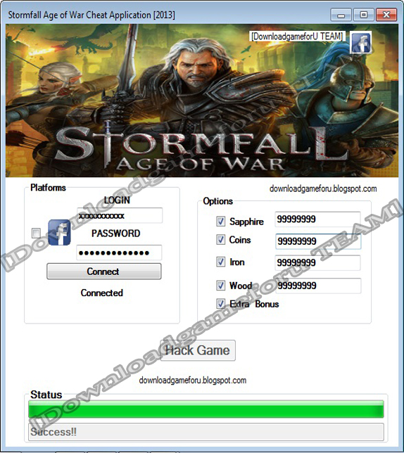 Stormfall Age of War Hack Cheat Application [2013] : Download Hack