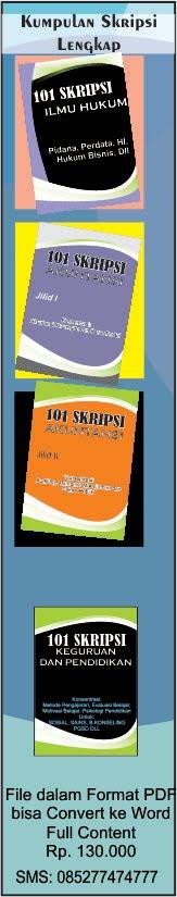 Kumpulan Skripsi Full (101 UNTUK SETIAP PRODI)