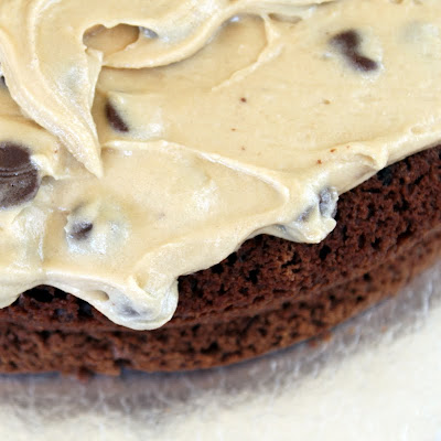 Double Chocolate Chip Cookie Dough Cake. Really! Kitty ... Double Chocolate Chip Cookie Dough