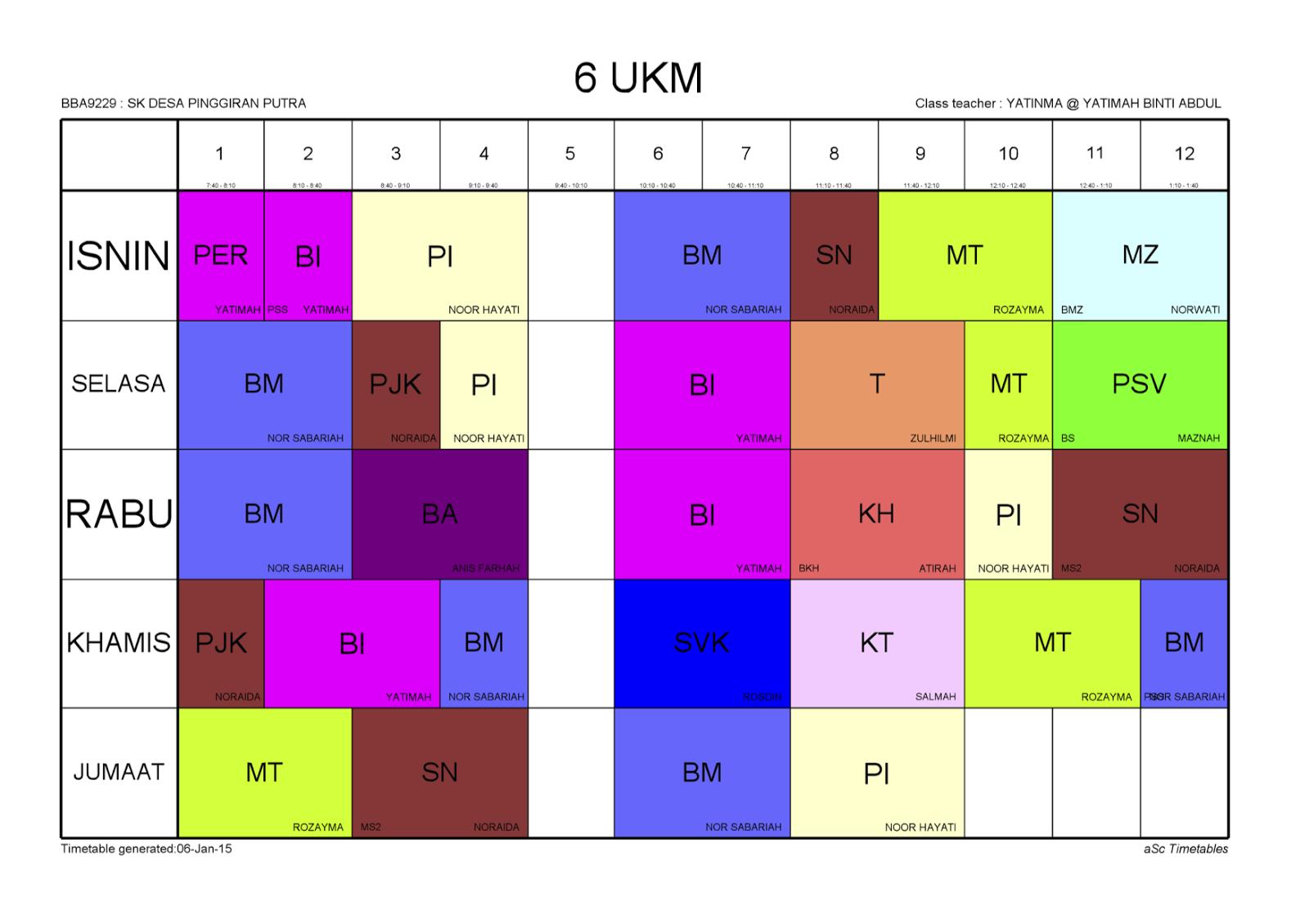 timetable generation