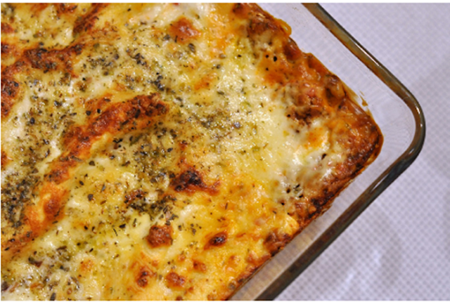 Lasanha quatro queijos