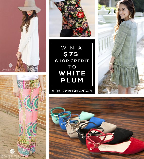GIVEAWAY // Win a $  75 Store Credit to White Plum on Bubby and Bean!